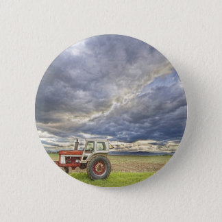 Turbo Tractor Country Evening Skies 2 Inch Round Button