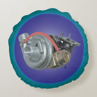 Turbocharger Round Pillow
