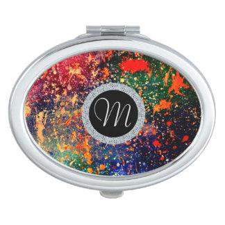 Turbulence Beauty | Colorful Rainbow Splatter | Makeup Mirror