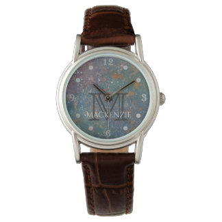 Turbulent Bling | Name Worn Chic Splatter Abstract Watch