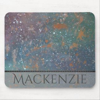 Turbulent Office | Name Mottled Splatter Abstract Mouse Pad