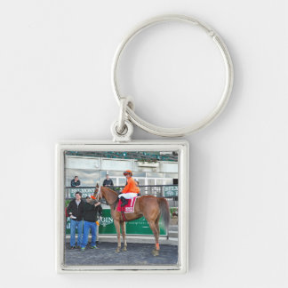 Turco Bravo and Javier Silver-Colored Square Keychain