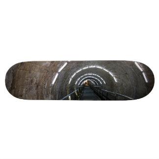 Turda salt mine tunnel skateboards
