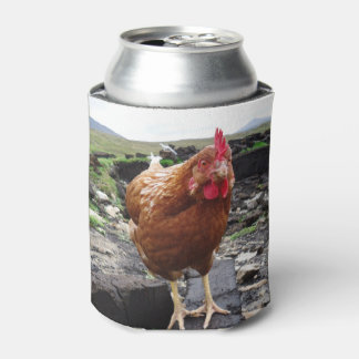 Turf Chicken can cooler, by H.A.S. Arts Can Cooler