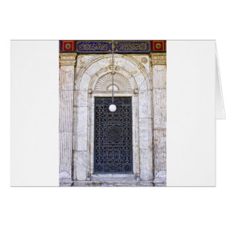 Türgitter of the Sultan Ali mosque in Cairo Card