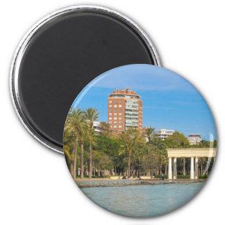 Turia Gardens in Valencia, Spain 2 Inch Round Magnet