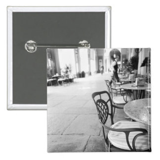 Turin Italy, Cafe and Archway 2 Inch Square Button