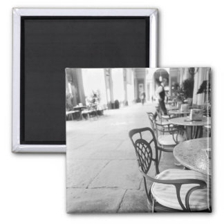 Turin Italy, Cafe and Archway Square Magnet