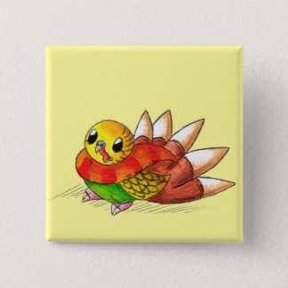 Turkeet 2 Inch Square Button