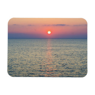 Turkey, Aegean Sea horizon at sunset 2 Rectangular Photo Magnet