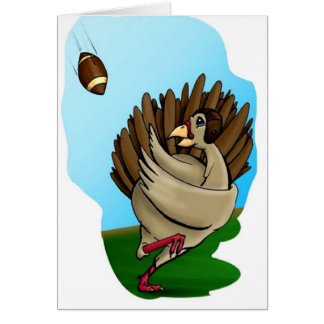 Turkey and Football Thanksgiving Card