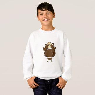 Turkey And Football Thanksgiving Funny Sweatshirt