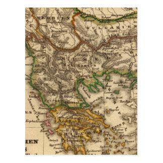 Turkey and Greece Map Postcard