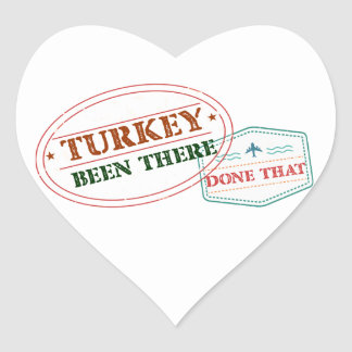 Turkey Been There Done That Heart Sticker