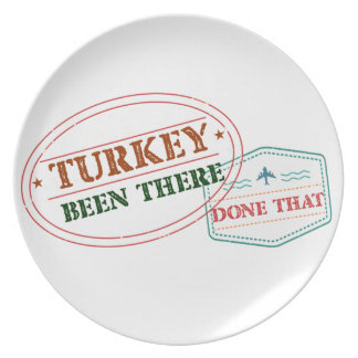 Turkey Been There Done That Plate