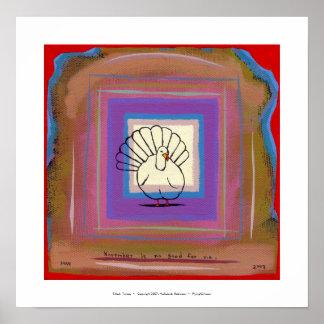 Turkey big tom bird unique modern art painting poster