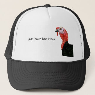 Turkey:  Black Tom Head Trucker Hat