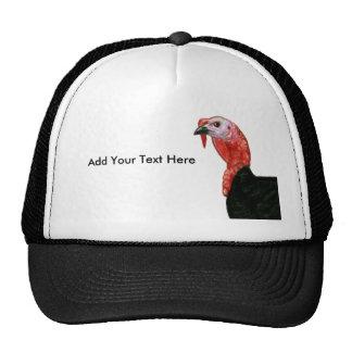 Turkey:  Black Tom Head Trucker Hat