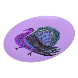 Turkey Blues Decorative Plate