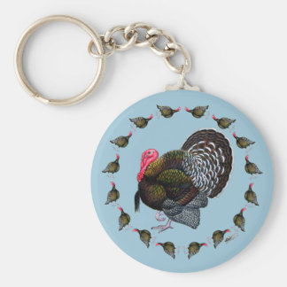Turkey Circle Keychain