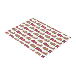 Turkey Cranberry Pumpkin Pie Thanksgiving Dinner Doormat