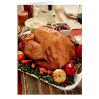 Turkey Dinner Meal Greeting Cards