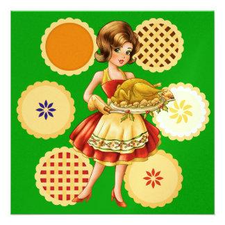 Turkey Dinner Thanksgiving Christmas Custom Announcement
