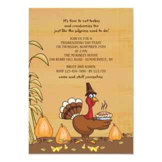 Turkey Dinner Time Thanksgiving Invitation