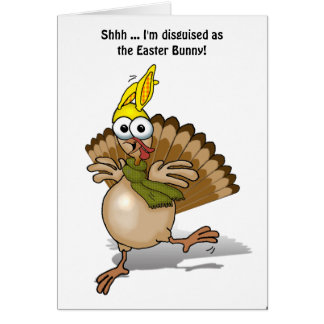 Turkey disguised as the Easter Bunny! Card