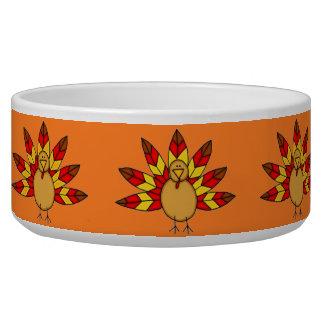 Turkey dog bowl