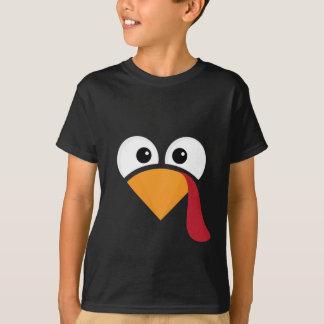 Turkey Face Heart Thanksgiving T-Shirt