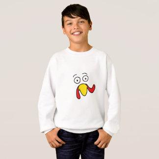 Turkey Face Thanksgiving Gift Sweatshirt