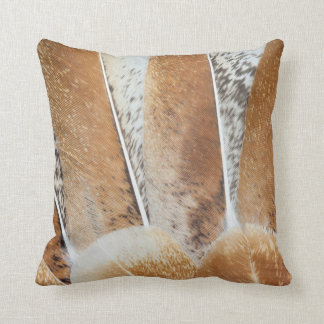 Turkey Feather Fanned Design Throw Pillow