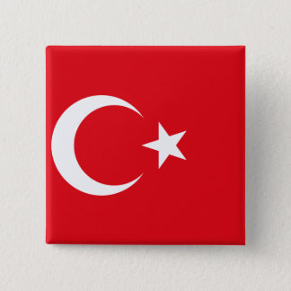 Turkey Flag 2 Inch Square Button