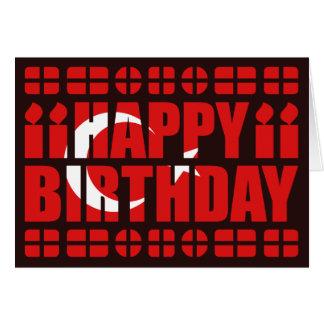 Turkey Flag Birthday Card