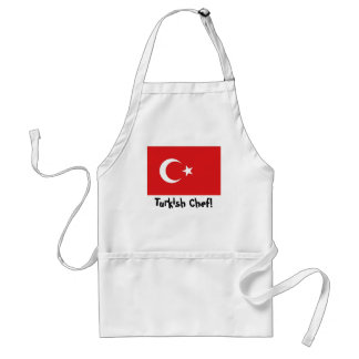 Turkey flag chef apron