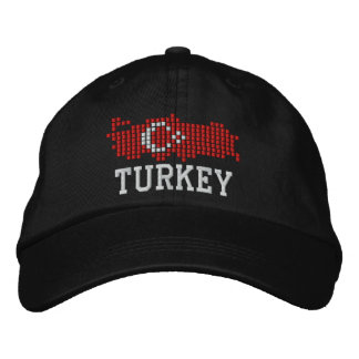 Turkey Flag Embroidered Hat