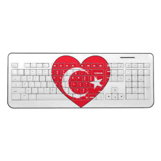 Turkey Flag Heart Wireless Keyboard