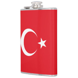 Turkey Flag Hip Flask