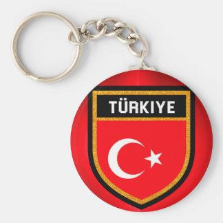 Turkey Flag Keychain