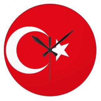 Turkey Flag Large Clock