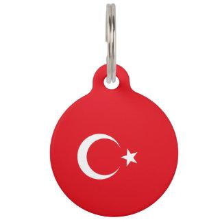 Turkey Flag Pet Name Tag