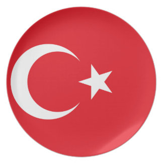 Turkey Flag Plate