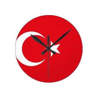 Turkey Flag Round Clock
