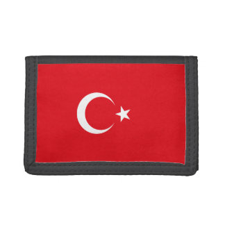 Turkey Flag Tri-fold Wallets