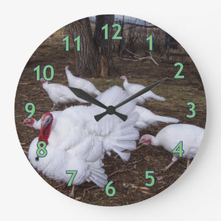 Turkey Flock Large Clock