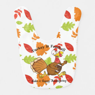 Turkey & Football Bib