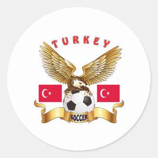 Turkey Football Designs Classic Round Sticker
