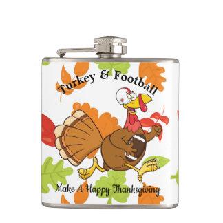 Turkey & Football Hip Flask