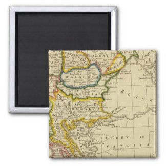 Turkey, Hungary Square Magnet
